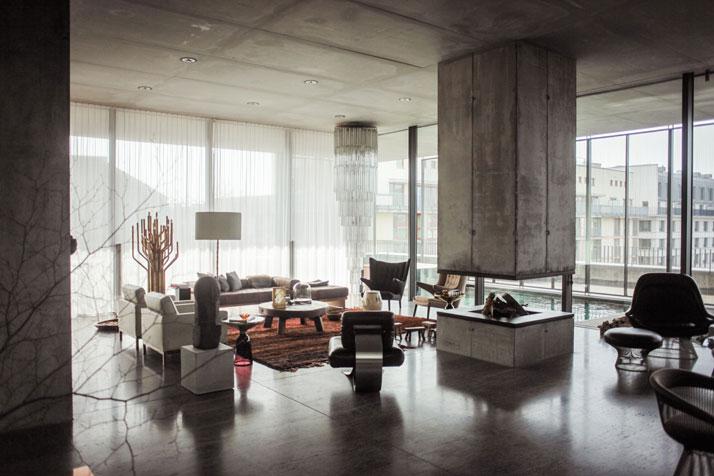 christian karen boros concrete penthouse