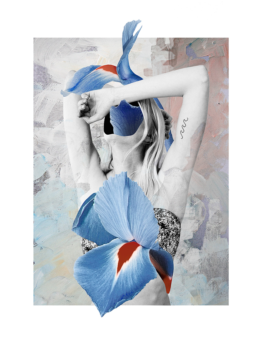 floral mixed media collages by ernesto artillo