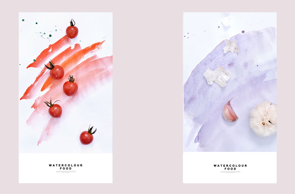 food in watercolour