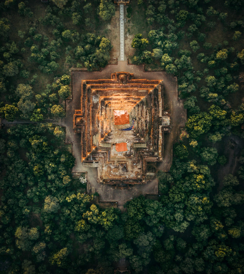 MYANMAR Temples from Above by Dimitar Karanikolov