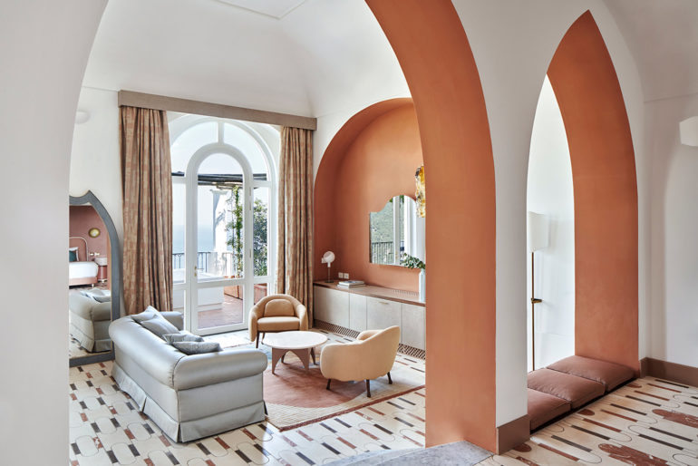 Cristina Celestino signs a seven room capsule collection for Palazzo Avino hotel